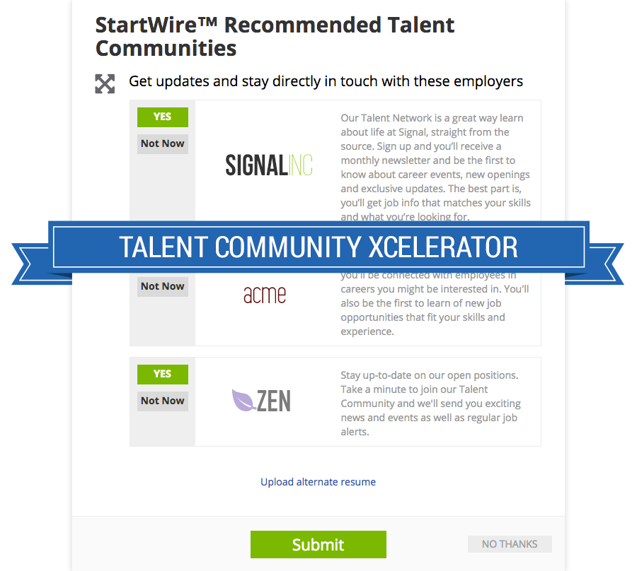 talent community xcelerator